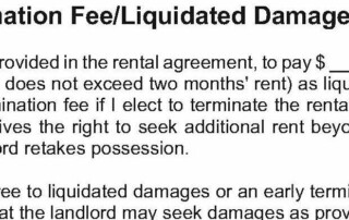 Early Termination Fee / Liquidated Damages Addendum